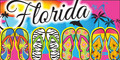 Fun Flip Flops Florida Velour Towel