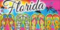 Fun Flip Flops Florida Velour Towel