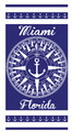 Miami Compass Velour Towel