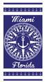 Miami Compass Velour Towel