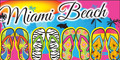 Fun Flip Flops Miami Beach Velour Towel