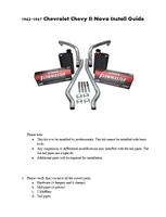 1962-1967 Chevy II Nova Exhaust Kit Instructions