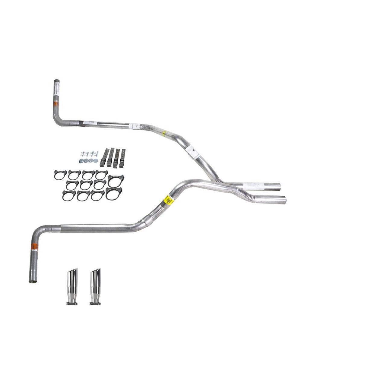 F150 07-13 dual exhaust 2.5 pipe No Muffler  SW Tip Side Exit
