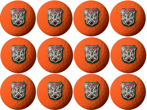 Orange golf balls from a golf course that does not even exist!! Yes that's right, the Bushwood Country Club logo has been custom designed on these Wilson golf balls.