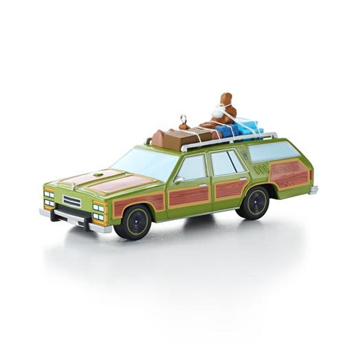 "Hallmark 2013 ""Wagon Queen Family Truckster"" Ornament features the car from ""National Lampoon's Vacation."""