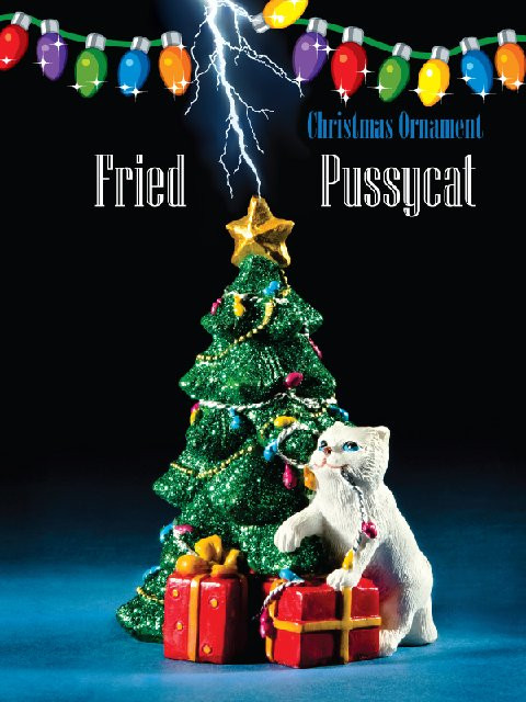 Ycat Christmas Lights 2020 A&R Fried Pussy Cat Christmas Ornament
