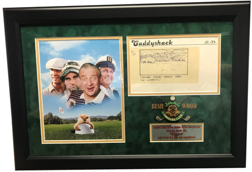 Screen used storyboard from the 1980 classic movie Caddyshack.