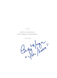 Signed complete copy of an original script from the movie Tron.