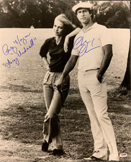 A&R Collectibles Certificate of Authenticity included for Cindy Morgan.  Chevy Chase autograph is PSA authenticated.