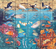 Christmas Island 1998 Marine Life Sheet of 20 Stamps MNH