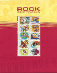 Australian Postage Stamp Sheet Commemorative Rock Music MNH