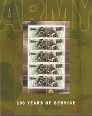 Australian Army Postage Stamp Sheet  100 Years of Service MNH