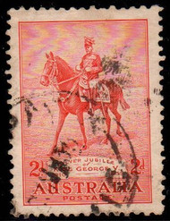 Australia Scott #152, 1935 George V on His Charger, 2p Used