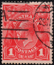 Australia Scott #21 (I) King George V, 1p, Watermark 9