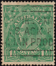 Australia Scott #25 King George V, 1 1/2p, Watermark 9