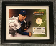 "Upper Deck has specially designed this ""MLB Game-Used Collection"" keepsake, which includes an action photo of Mark Prior coupled with a piece of a game-used baseball (approximately 2'' in diameter) used during an official Chicago Cubs MLB game."
