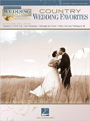 This lot includes (1) Country Wedding Favorites Songbook, along with (6) single title multi-page sheet music song arrangements described below, purchased directly from the publisher.  Perfect for playing, framing or collecting.