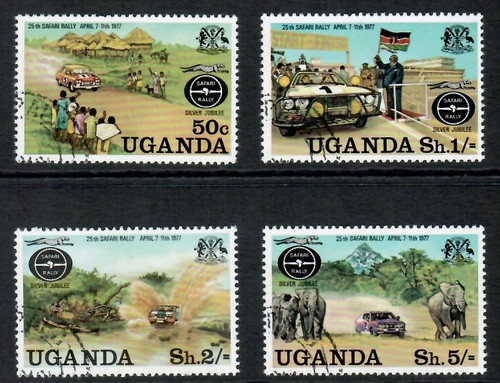 Set of 4 beautiful CTO stamps