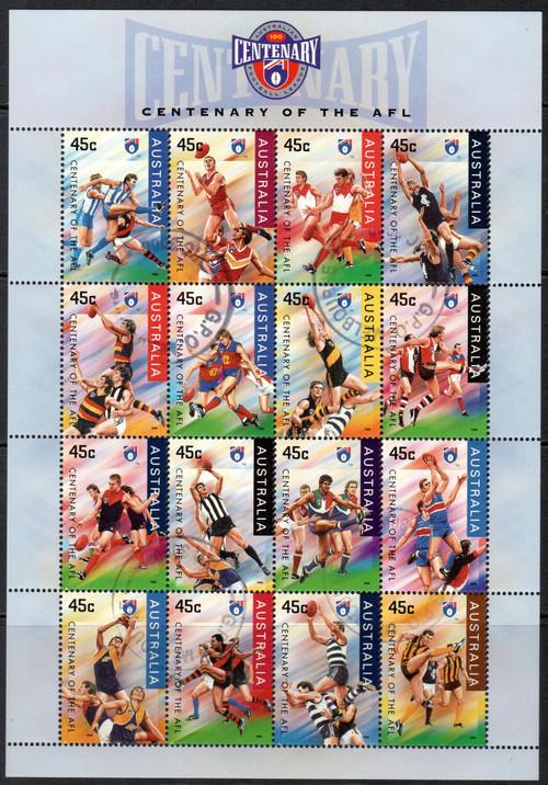 Centenary of the AFL Souvenir Sheet