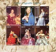 Mozambique Scott 1729 MNH 2004 Miniature Sheet Jean-Auguste Ingres Paintings