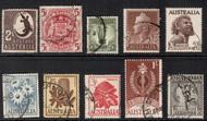 Australia Set of 10 Shilling Value Stamps 1948-1964