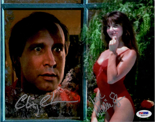 Unique beautiful dual signed scene of Clark gazing through his window at his holiday fantasy swimsuit girl Mary.