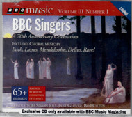 BBC Singers - 70th Anniversary Celebration [Single] Includes Choral Music by: Bach, Lassus, Mendelssohn, Delius, Ravel.  Image shows CD front, brand new- in original packaging.