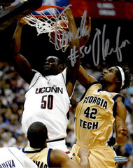 In 2004 Emeka Okafor led UConn to the program's second national title in six seasons. He was crowned as the NCAA tournament's MVP. In addition, Okafor led the nation in blocks that season and was also named National Defensive Player of the Year by the National Association of Basketball Coaches. He also received the Big East Player of the Year award. Okafor graduated as Connecticut's leader in blocked shots with 441 and was made a member of the 2004 U.S. National Men's Basketball Team that represented the U.S. at the Olympics in Athens.