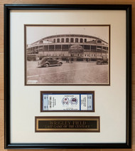 WRIGLEY FIELD - The ballpark at the corner of Clark and Addison opened its doors in 1914.  With its ivy-covered walls and manual scoreboard, Wrigley Field has become a beloved piece of baseball's landscape and the game's history.