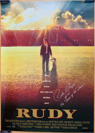 Rudy Ruettiger is best known as the inspiration for the motion picture Rudy.  Buyer will receive actual poster displayed in our images.