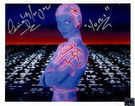 """Tron movie photo signed by Cindy Morgan, with """"Yori"""" inscription. The photo shown in our image is the actual one buyer will receive."""