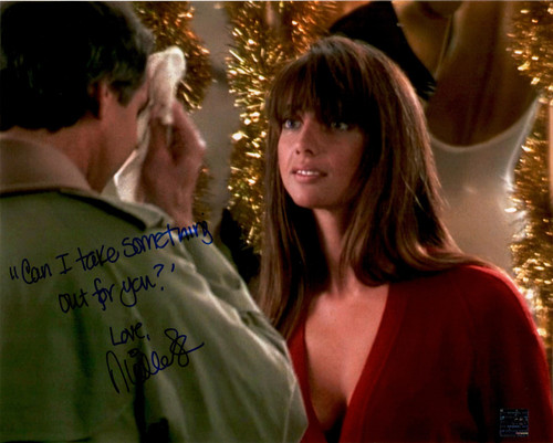 """A&R Collectibles is pleased to offer you autographed Christmas Vacation photos from our Exclusive private signings with Nicolette Scorsese.  Ms. Scorsese (""""Mary"""") has signed this photo and added the special message """"Can I Take Something Out for You?"""""""