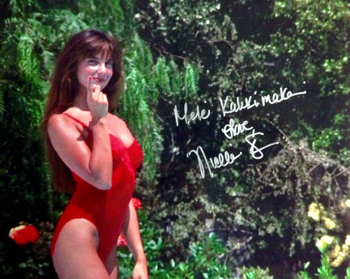 """Tis the Season to be Merry""...And here she is...MARY herself.  Nicolette Scorsese has signed this photo and added the special holiday message ""Mele Kalikimaka"""