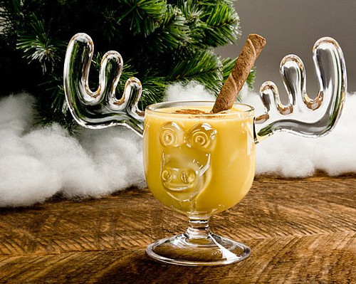 We have done our best to produce these high quality ONE PIECE Custom Made Acrylic Moose Mugs. Made of lightweight, crystal clear acrylic, which is far superior to plastic with the added benefits of being a stronger and much safer alternative to glass.  These are the ONLY ONE PIECE moose mugs on the market with 8 ounce capacity.  All others have glued on antler ears and are much smaller in size and capacity.