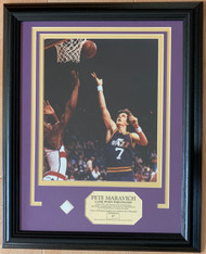 One of the NBA's 50 Greatest players, Pete Maravich played 10 productive seasons in the NBA, earning five trips to the NBA All-Star Game and one league scoring title.