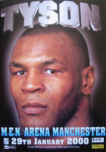 Staged at the MEN Arena, Manchester, England.  Following controversy as to whether Tyson should be allowed into the country, he took four minutes to knock out Francis, ending the bout in the second round.