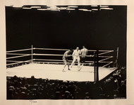 A record breaking 132,000 spectators filled the mammoth outdoor stadium in the darkness and drenching rain to see the 7 year World Champion Jack Dempsey dethroned by New Yorker Gene Tunney.