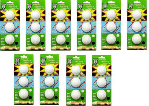 Want to have some fun with your friends this summer playing golf?  Our Bushwood Joke balls and naked lady tees pack is just what the doctor ordered!  Lot of 10.