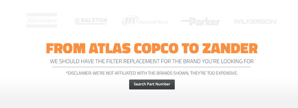 Atlas Copco to Zander Equivalent Filter Replacements