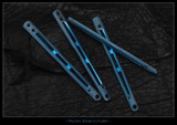 "BM51-Ti ""Gunner Grip"" Scales Full Blue Ano"