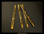 "BM6X Series Ti Handles--""Chevron"" Polished Gold Ano"