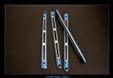 """BM6X Series Ti Handles--""""Gunner Grip"""" Blue Ano / Satin Flute"""