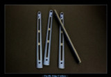 "BM6X Series Ti Handles--""Gunner Grip"" Blue Ano / Stonewash"