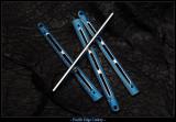 """BM6X Series Ti Handles--""""Gunner Grip"""" Blue Ano / Satin"""