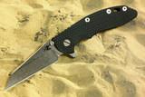 "Hinderer XM-18 3-1/2"" Wharncliffe Flipper Blue/Black"