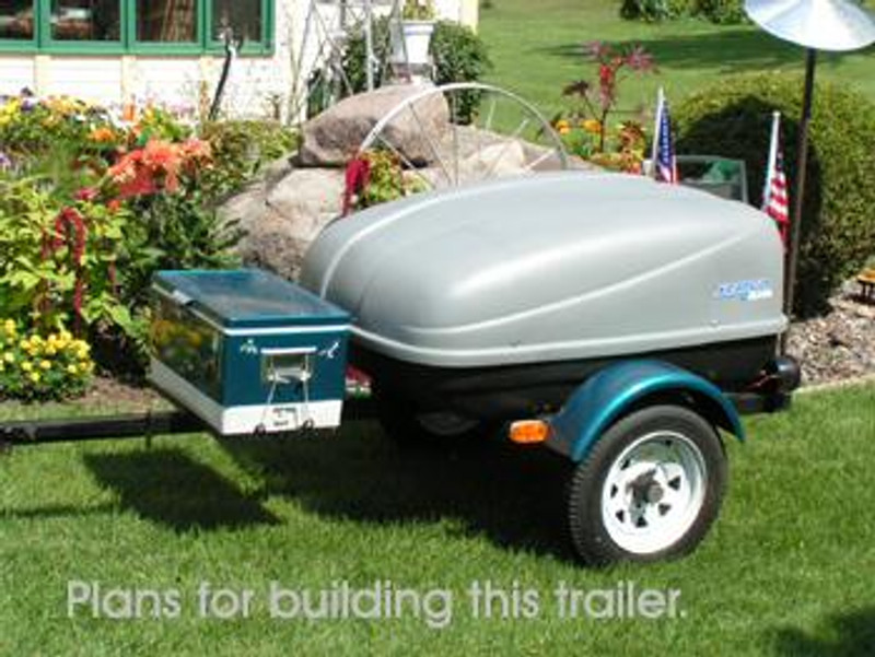 Trailer plans for a motorcycle or small car