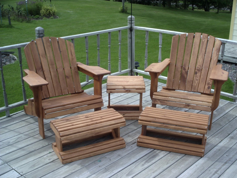 Adirondack Chair & Ottoman Woodworking Plans