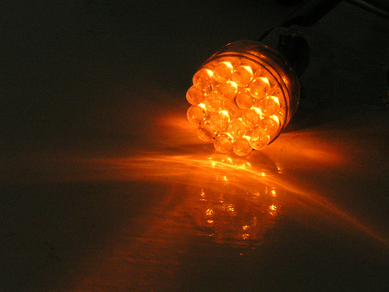 24 LED Amber Replacement Bulb With Wires