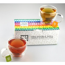 Tea Tonic 2x Double Wall Thermal Glass Tea Cups in Box