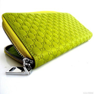 Genuine leather woman purse tote wallet zipper Coins credit Money Handbag cover green free Shipping